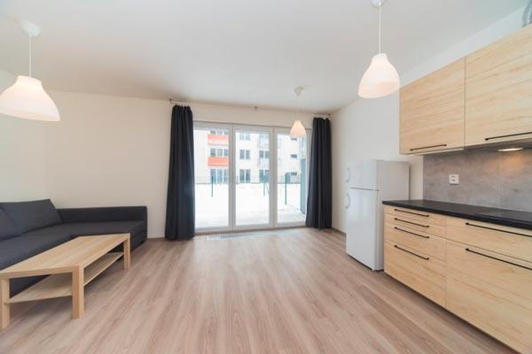Pronájem bytu 1+kk-G o výměře 25 m2 s terasou o výměře 20 m2 Praha 6 – Řeporyje